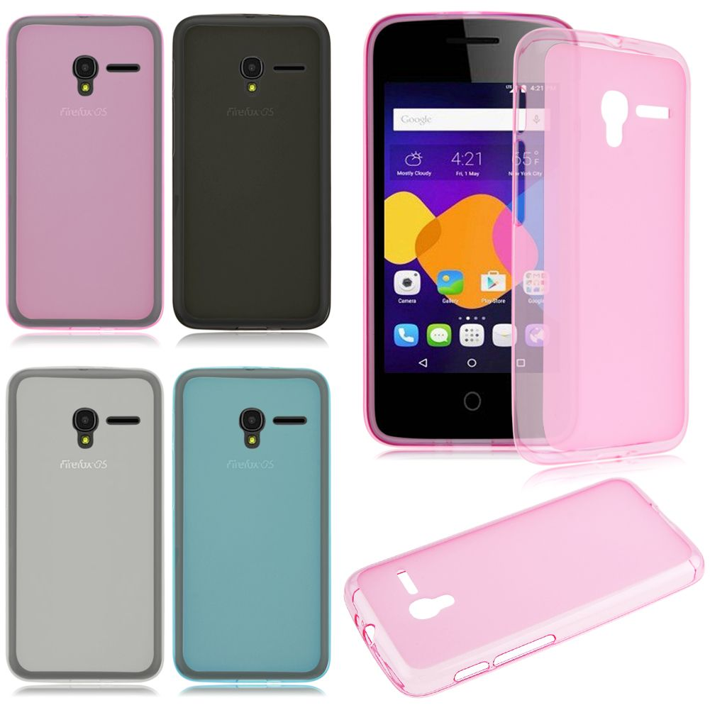 the best attitude 98e93 b6ea0 Details about Matte Frosted TPU Silicone Rubber Cover Case For Alcatel Pixi  3 Cell Phone
