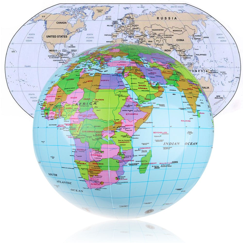 36cm inflatable earth world globe map beach ball educational 36cm inflatable earth world globe map beach ball educational geographical toy au gumiabroncs Gallery