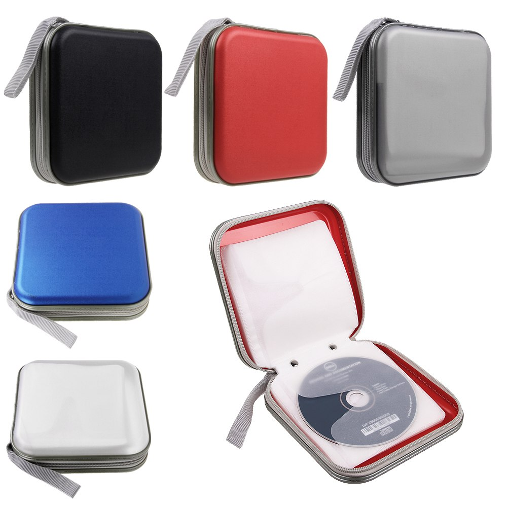 classeur 40 disc rangement boite pochette etui range cd dvd sac sacoche ebay. Black Bedroom Furniture Sets. Home Design Ideas
