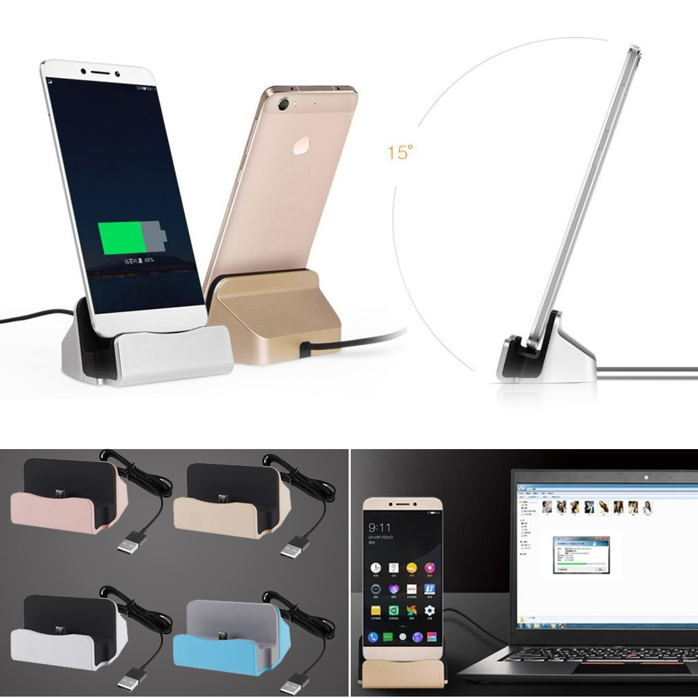 type c usb 3 1 universal dock dockingstation ladestation f r smartphone handy ebay. Black Bedroom Furniture Sets. Home Design Ideas
