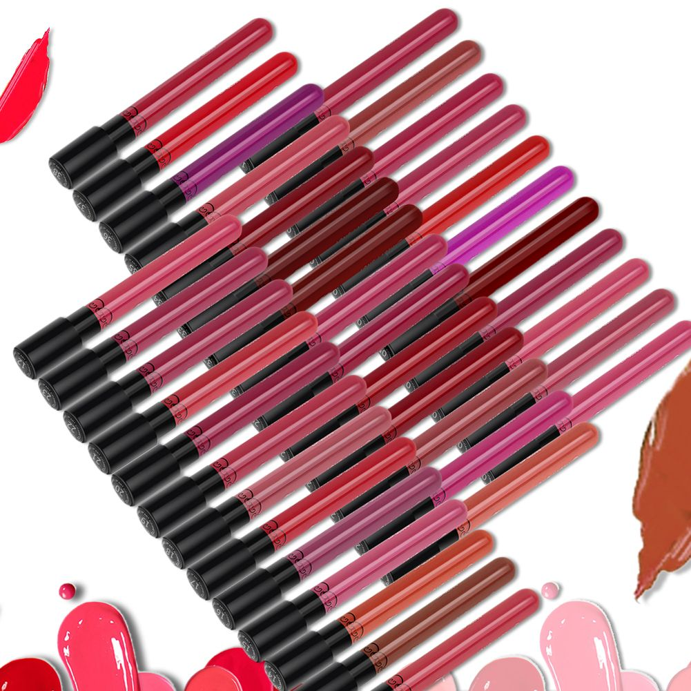 hot maquillage crayon l vres rouge l vres mat gloss durable liquide tanche ebay. Black Bedroom Furniture Sets. Home Design Ideas