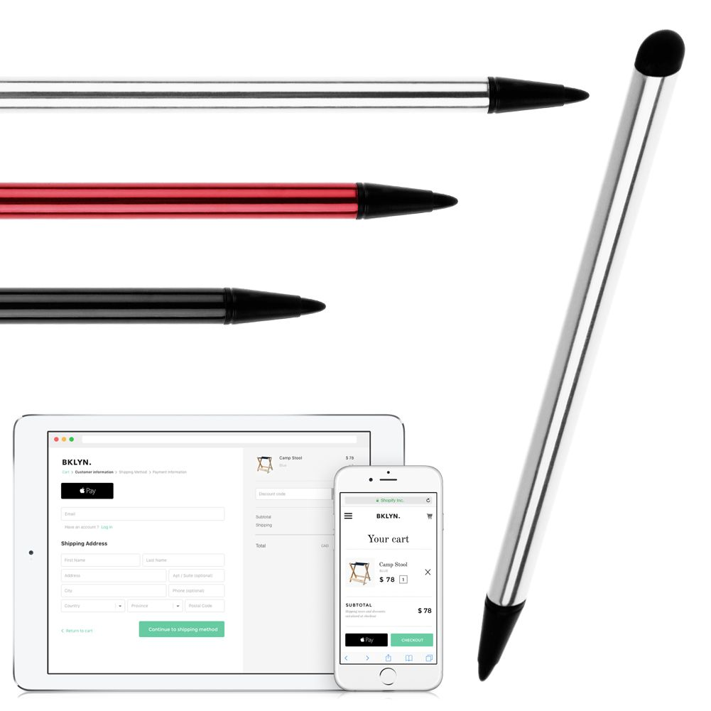 US 2in1 Precision Capacitive Touch Screen Pen Universal For iPhone iPad Sansung