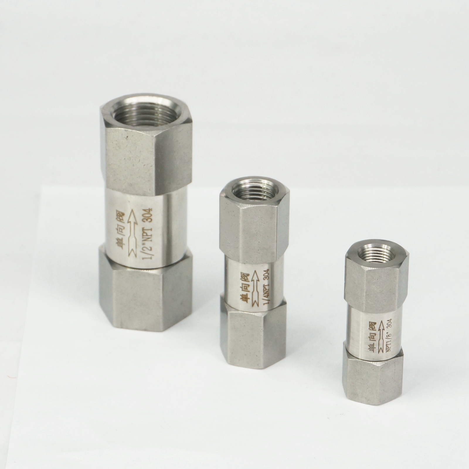"""New 1pc 1//4/"""" Female Check One Way Valve 304 Stainless Steel"""