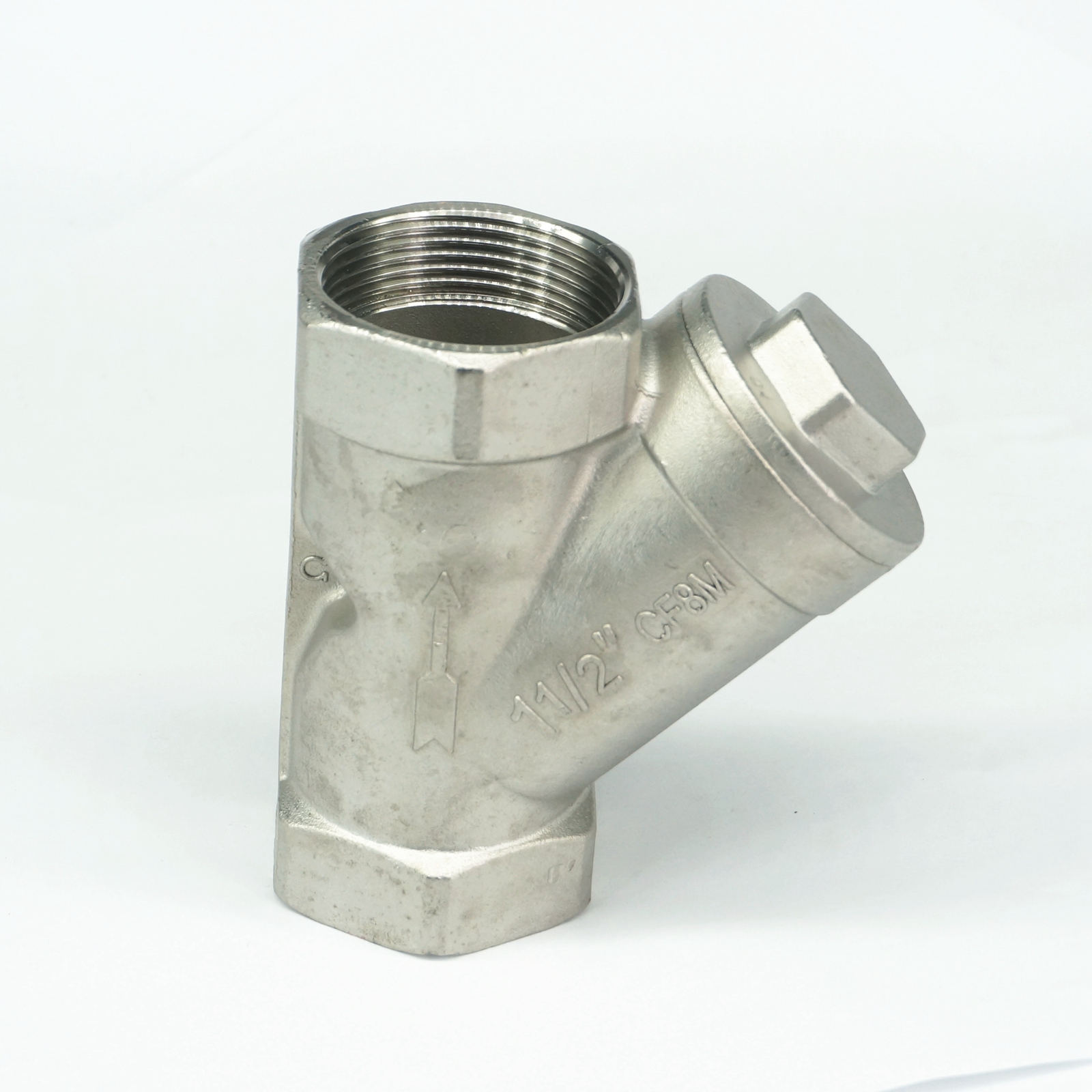 w// Strainer Filter DN40 1-1//2 Inch Brass Foot Valve Mesh for Water Oil