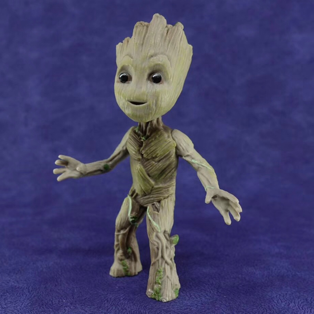2 Sitting Action Figure Toy Gift Cute Groot Baby Guardians of The Galaxy Vol
