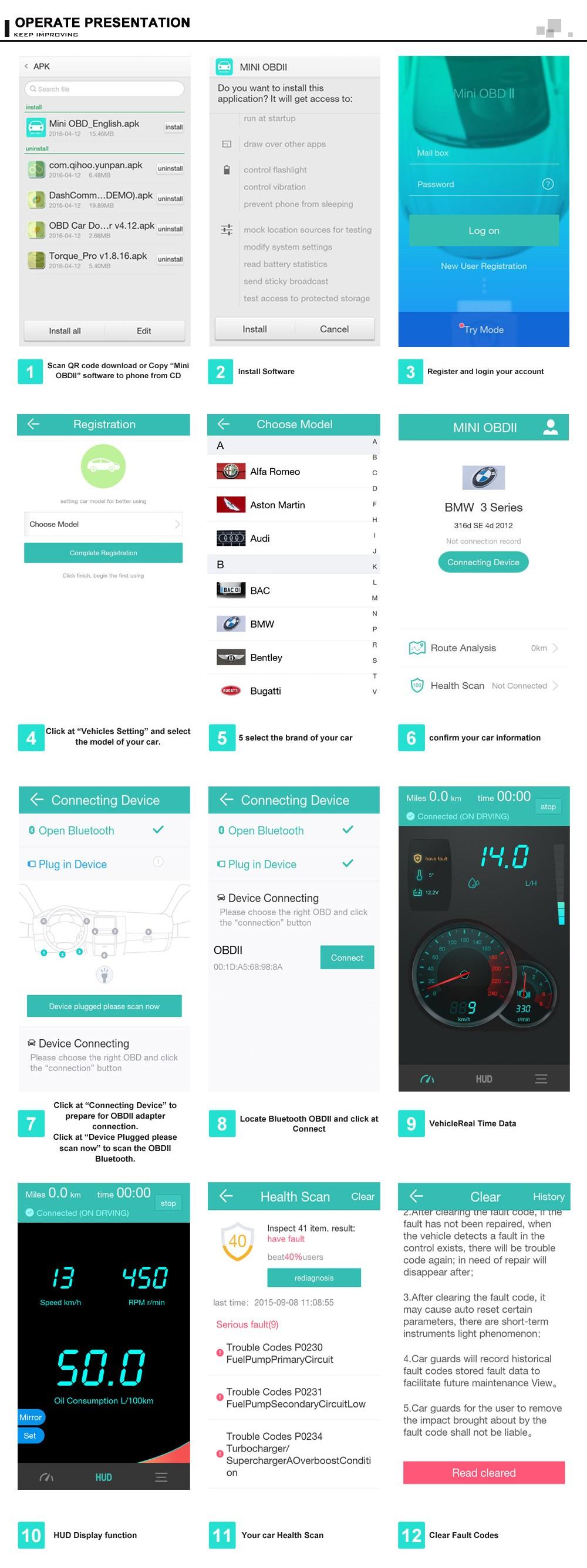 Elm327 obdii obd2 bluetooth v4 0 car diagnostic wireless for Ebay motors app for android