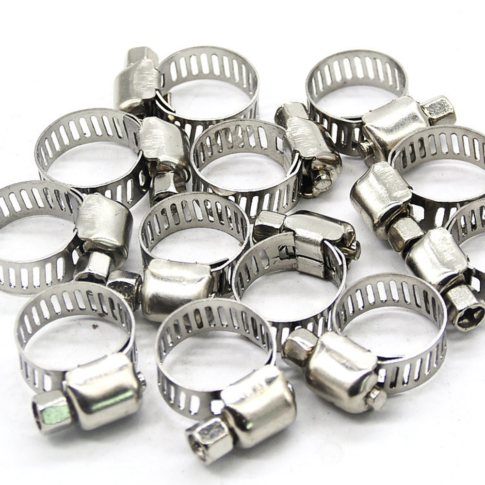 """20 X 1//2/""""-3//4/"""" Adjustable Stainless Steel Drive Hose Clamps Fuel Line Worm Clip"""