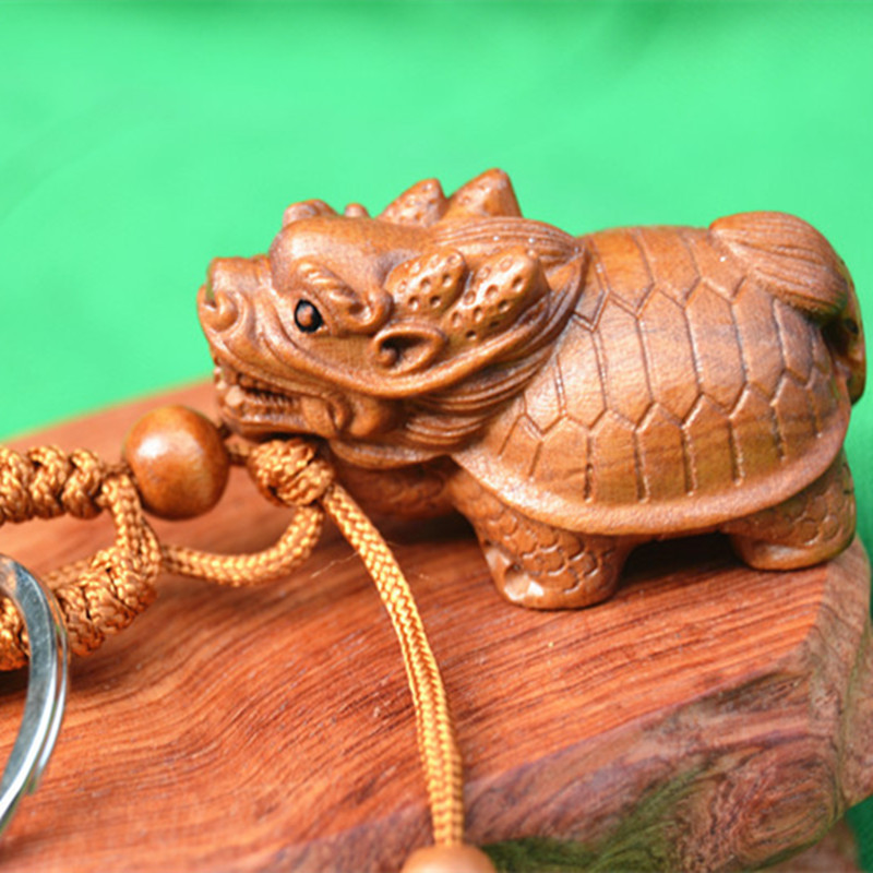 Exquisite Chinese Handmade Lantian jade Jade Dragon Pendant  statue
