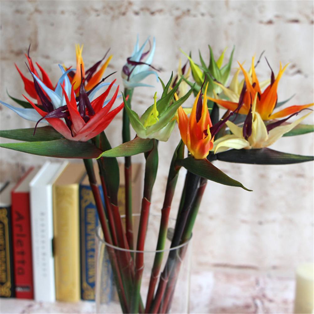 New Large Artificial Bird Of Paradise Flowers Strelitzia Wedding Home Decor 60cm