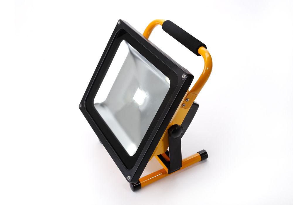 50w 4000lm led akku strahler ip65 flutlicht fluter lampe au en scheinwerfer ebay. Black Bedroom Furniture Sets. Home Design Ideas