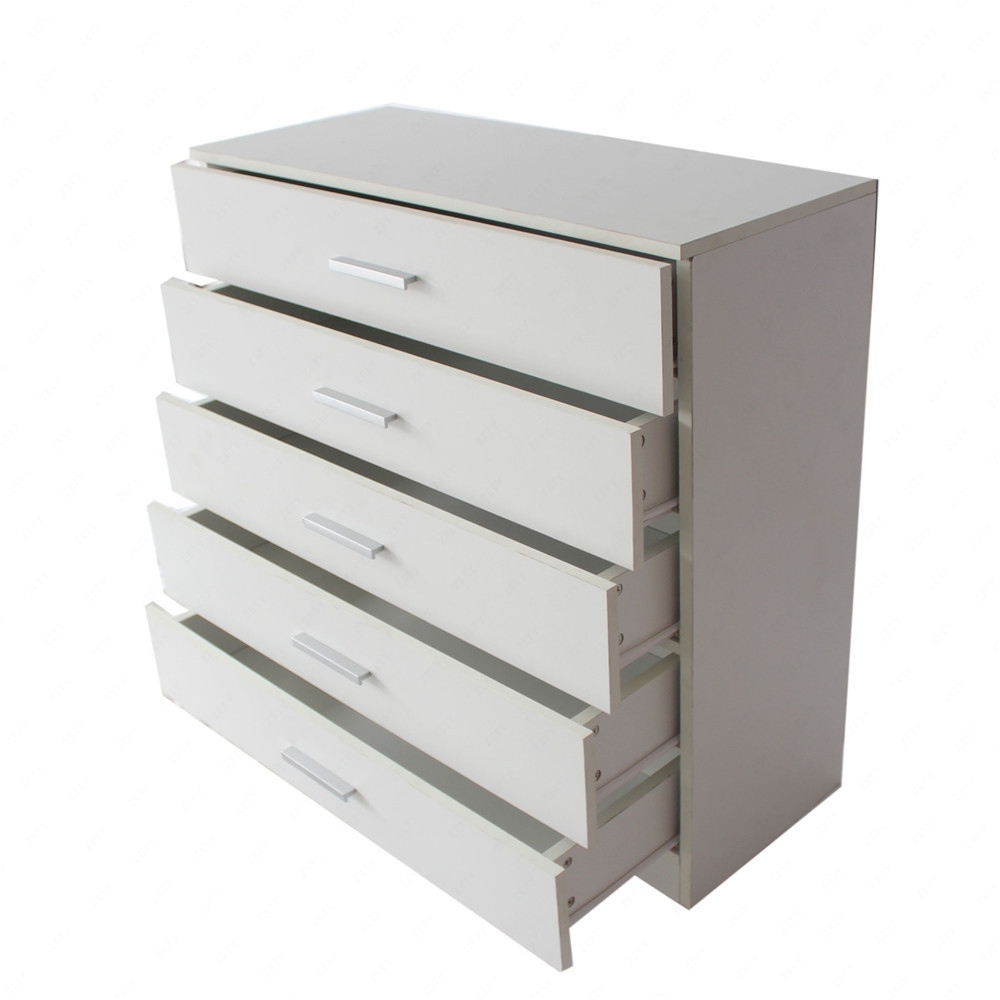 New white chest of drawers bedroom contemporary furniture 5 drawers for White bedroom chest of drawers