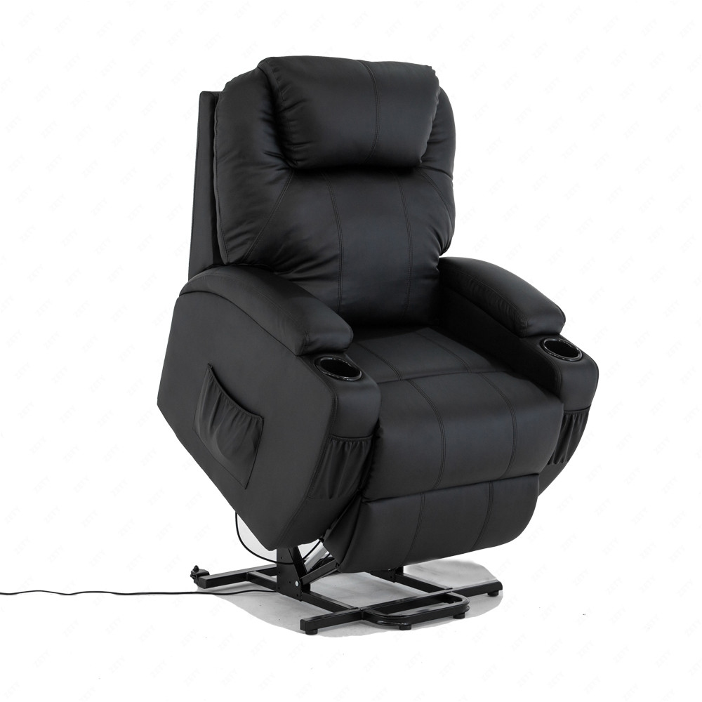 BN Bonded Leather Padded Electric Rise Cup Holder Recliner ...