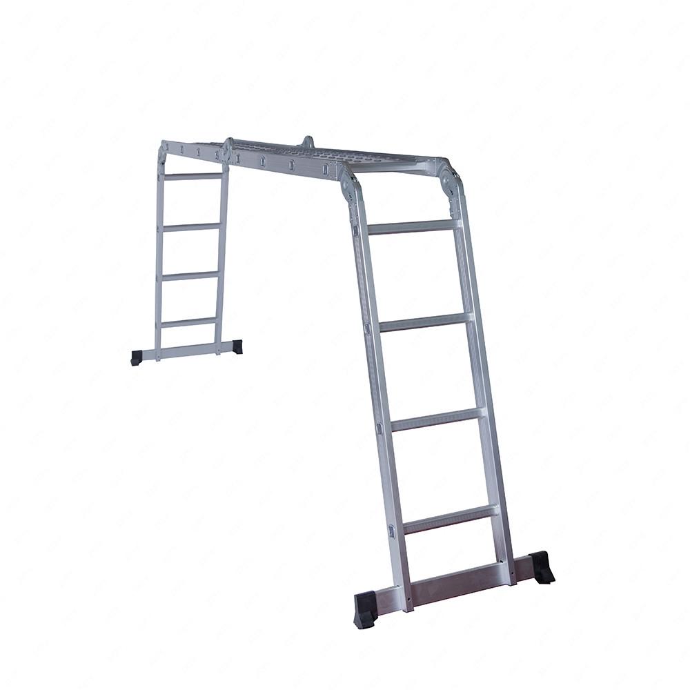 Folding Extension Ladder : Ft aluminum multi purpose ladder telescoping