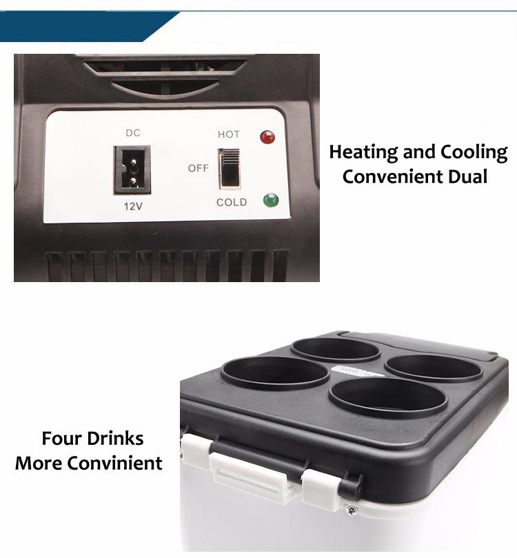 Portable 12v 110v Cooler Heater Car Travel Refrigerator