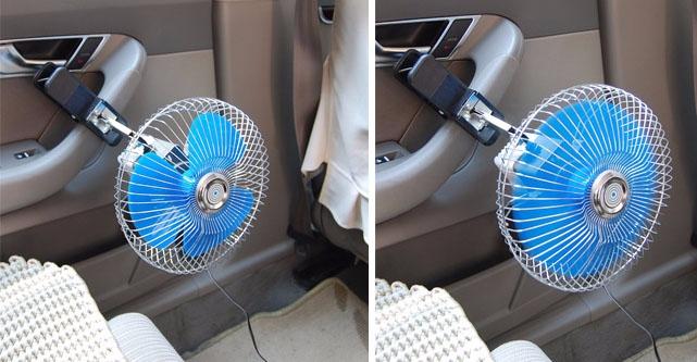 Portable Fan For Car : V portable vehicle auto car fan oscillating van truck