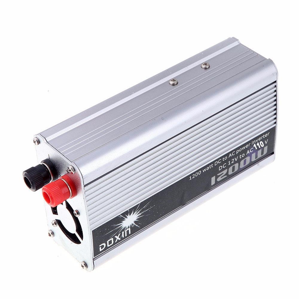 1200W DC 12V AC 110V Portable Car Power Inverter Adapter