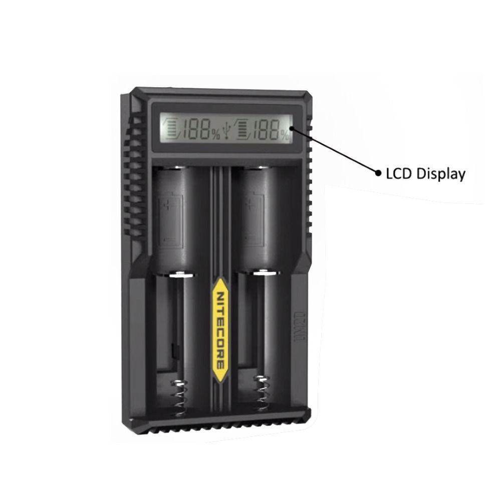 Nitecore Um20 Lcd Screen Usb Travel Battery Charger 18650