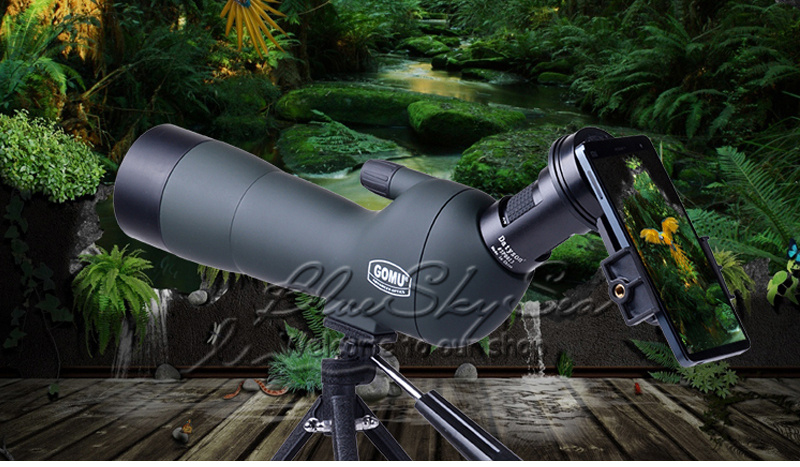 GOMU Optic Angled 20-60x60 Zoom Spotting Scope AE Monocular Telescope W// Tripod