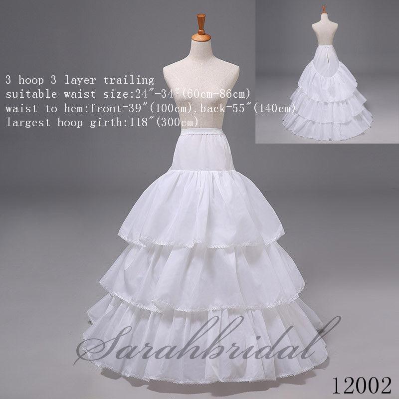 A Line Mermaid Bridal Ball Skirt Wedding Formal Dress Crinoline Petticoats Hoops
