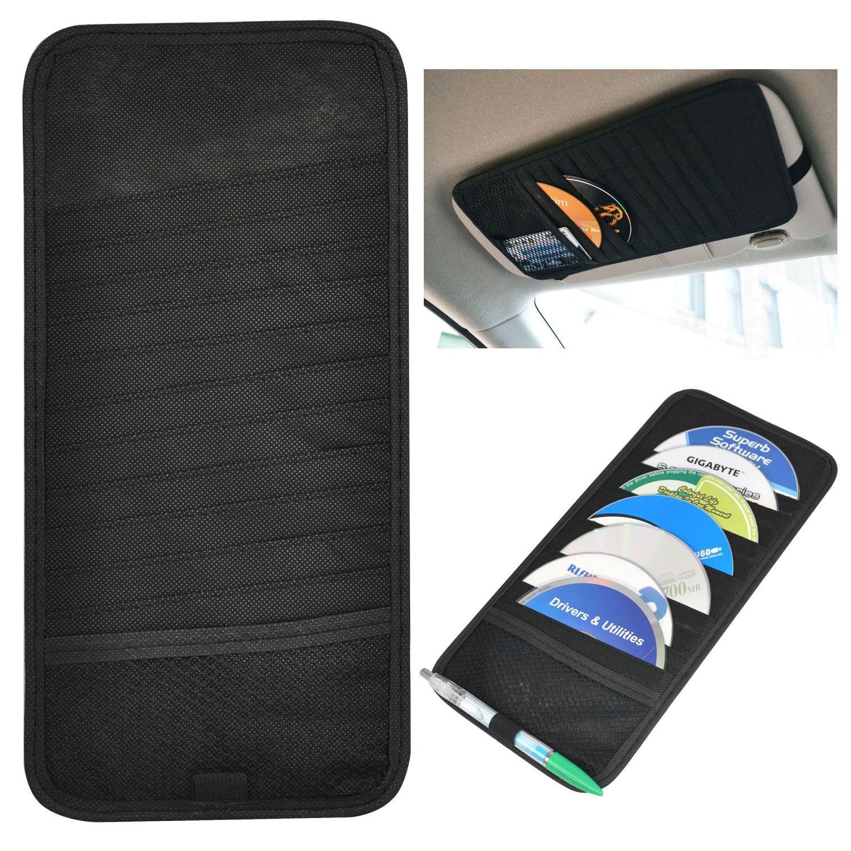 Car Sun Visor Cd Dvd Card Case Storage Holder Clip Cover