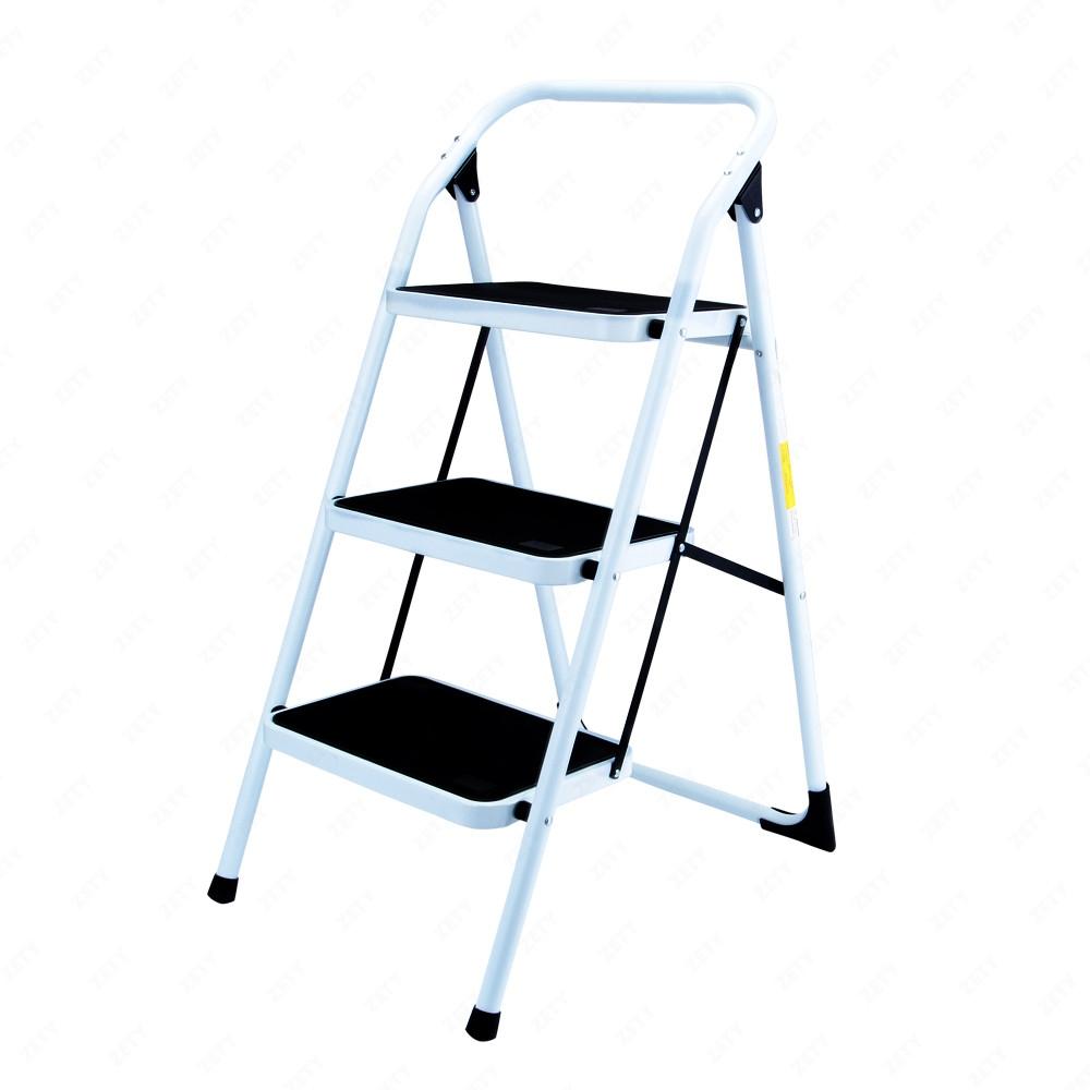 New 3 Step Ladder Folding Non Slip Safety Tread Heavy Duty