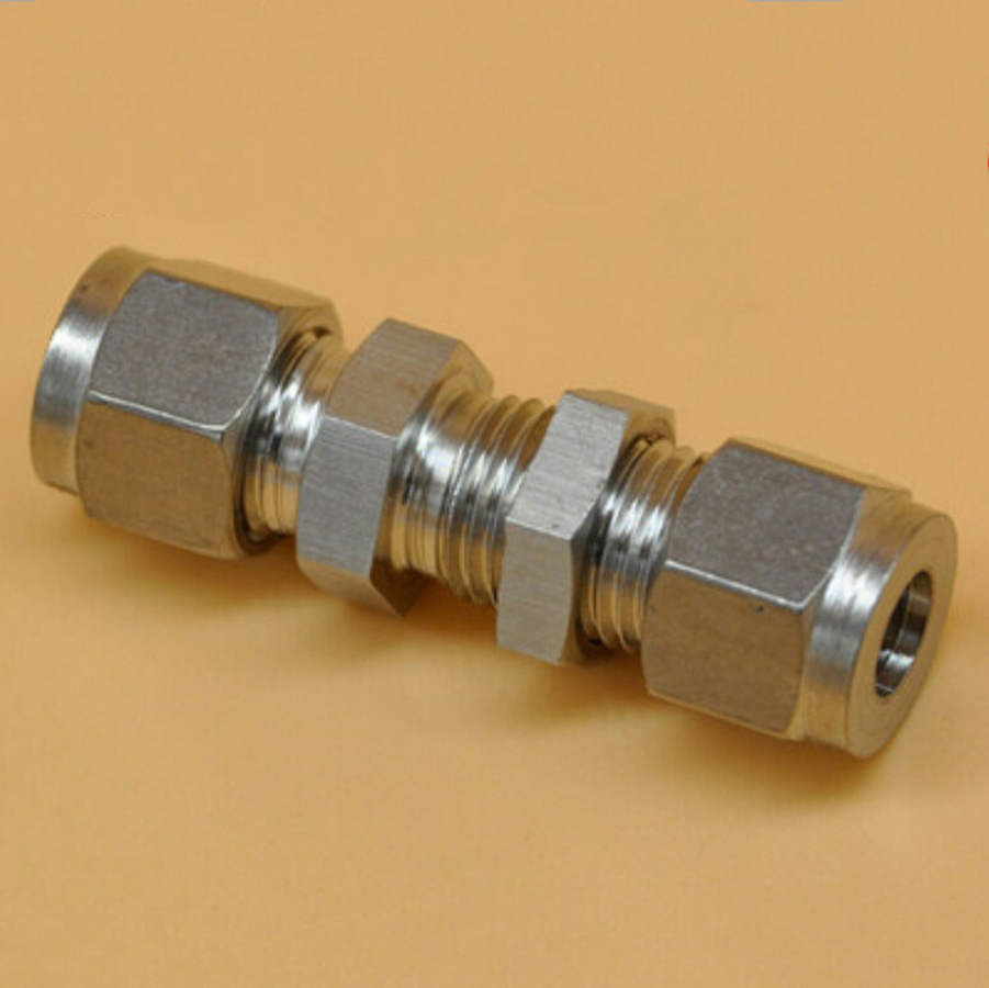 Stainless steel fit mm od tube bulkhead connector