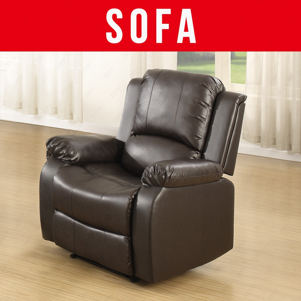 Elegant leather sofa 1 seater recliner chair lazy boy sofa for Sofa 6 seater