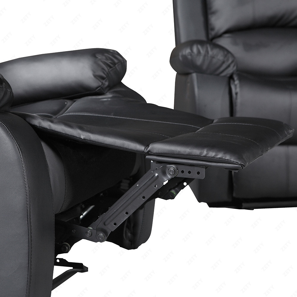 Leather Sofa Suites Uk: Recliner Leather Elegant Black And Brown Sofa Suite For