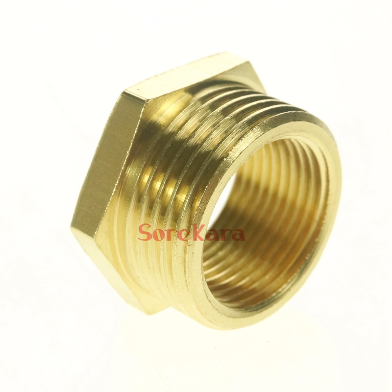 Brass reducer bsp female to male reducing bushing