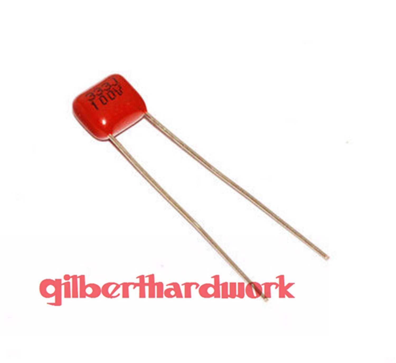 10 pcs Polypropylene Safety Capacitor 333K 275V 0.033UF 33NF Pitch 15mm