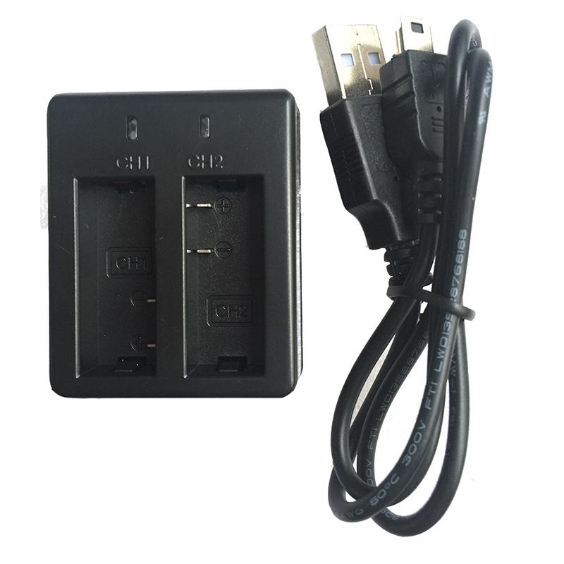 2x piles dual batterie chargeur de voiture pour gitup git1. Black Bedroom Furniture Sets. Home Design Ideas