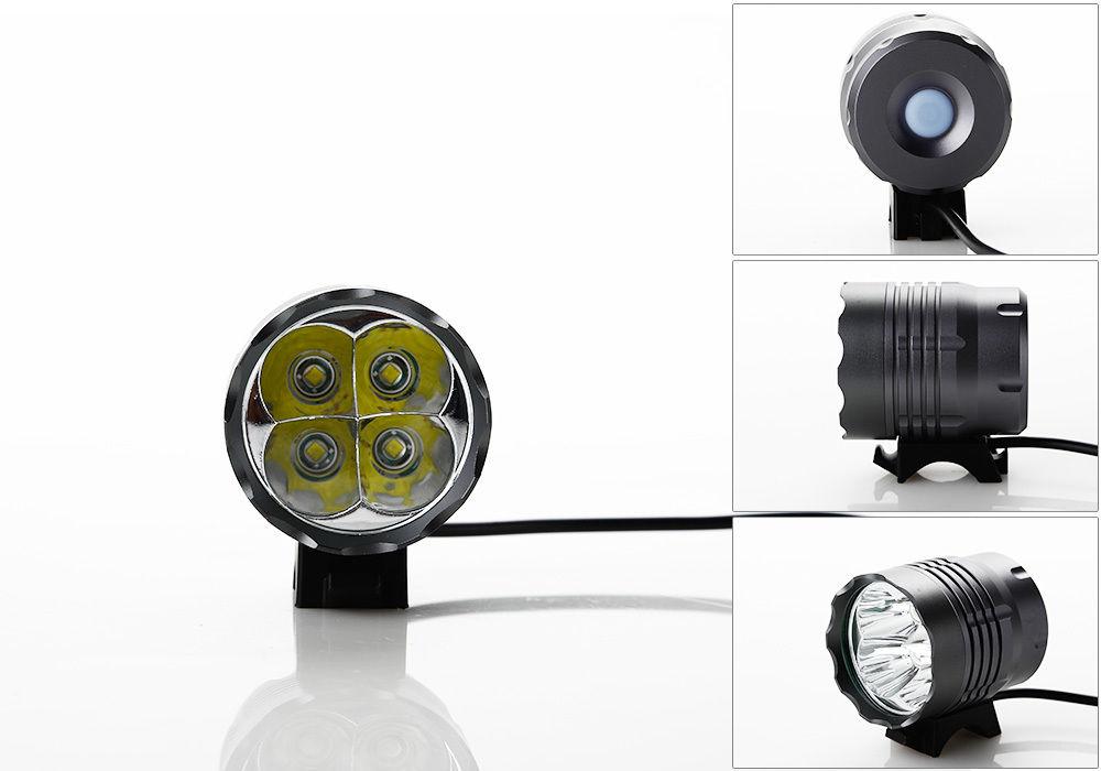 4 led 5200 lumen cree t6 fahrradlampe fahrradbeleuchtung front licht bike lampe ebay. Black Bedroom Furniture Sets. Home Design Ideas