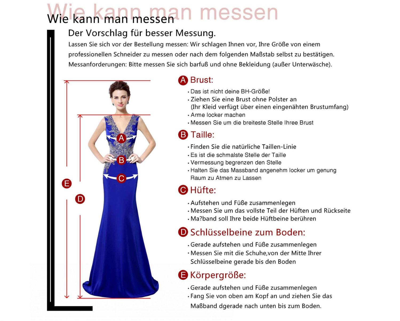 Abendkleid Ballkleid Brautjungferkleider Hochzeit Kleider Lang ...