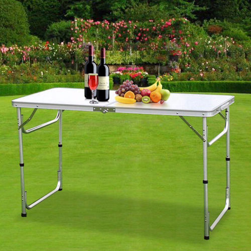 Heavy Duty Folding Camping Table Trestle Plastic Picnic