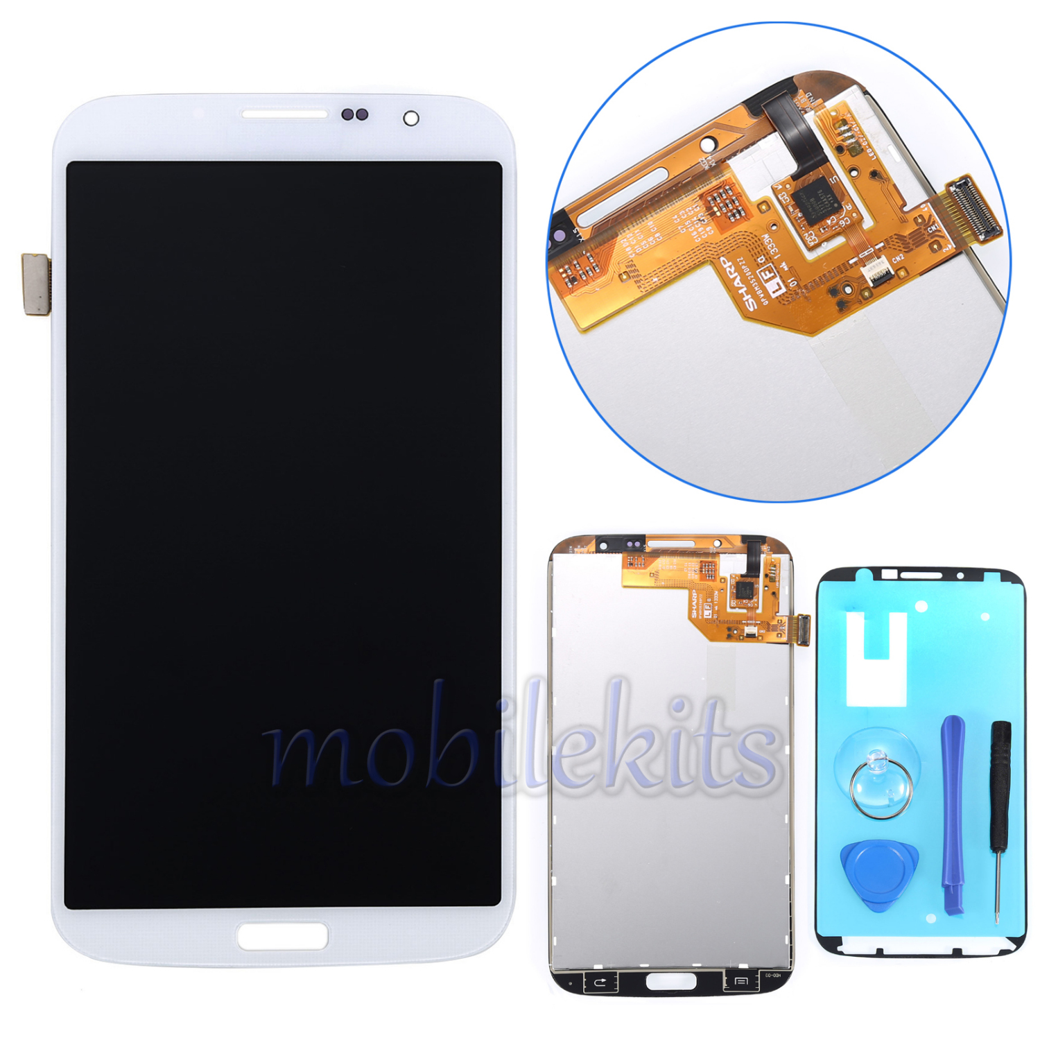 LCD Touch Screen Digitizer Replace For Samsung Galaxy Mega