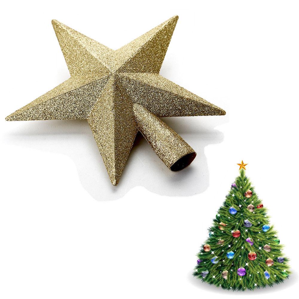weihnachtsbaumspitze christbaumschmuck baum sterne mit. Black Bedroom Furniture Sets. Home Design Ideas