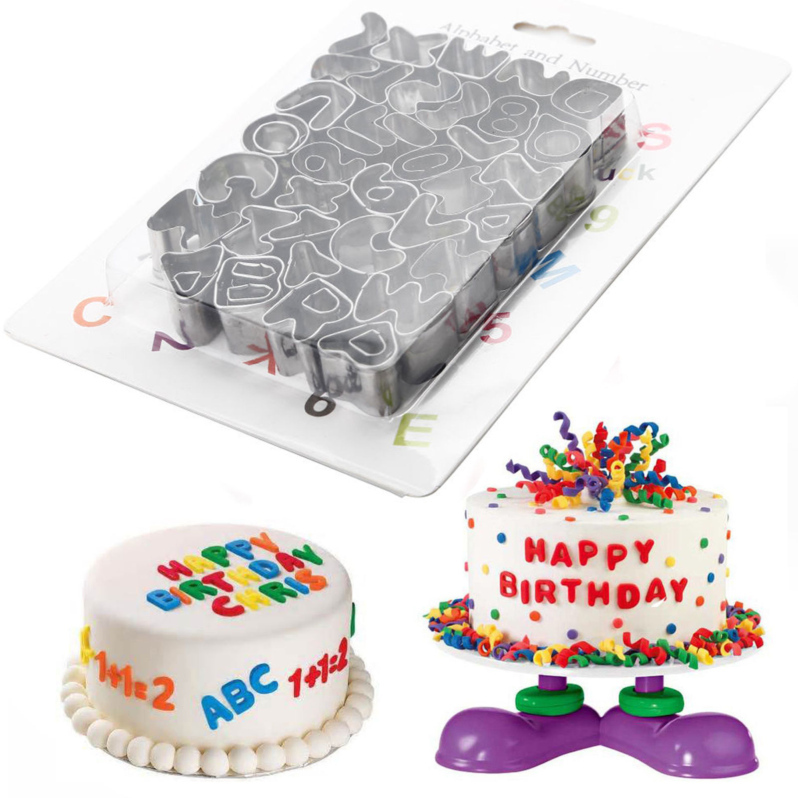 37pcs cake decorating set letters alphabet number set for Alphabet blocks cake decoration