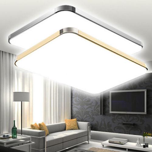 24w 96w led wohnzimmer k che deckenleuchte wandlampe innenleuchte lampe licht ebay. Black Bedroom Furniture Sets. Home Design Ideas