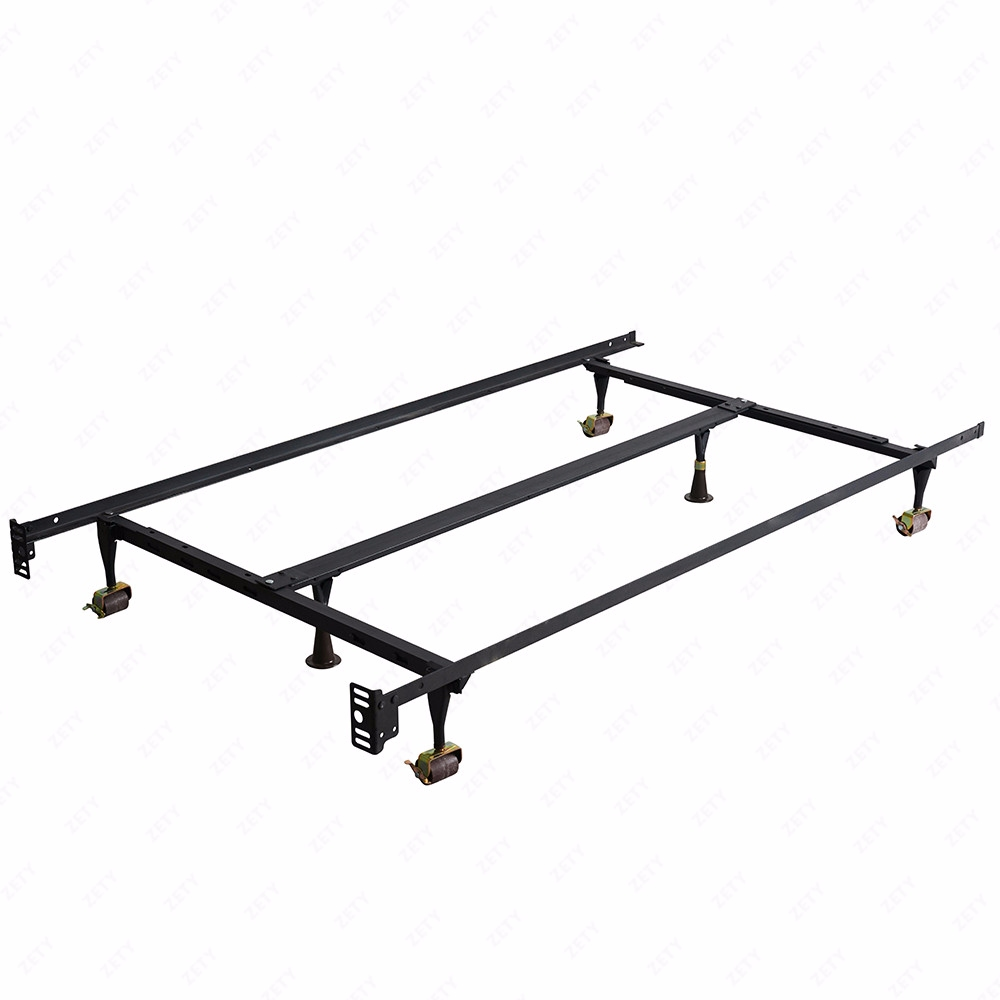 Adjustable Full Queen Bed Frame : Metal bed frame adjustable twin full queen w center