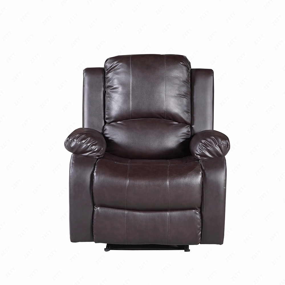 Brown 3 2 1 Seater Sofa Couch Recliners Real Leather