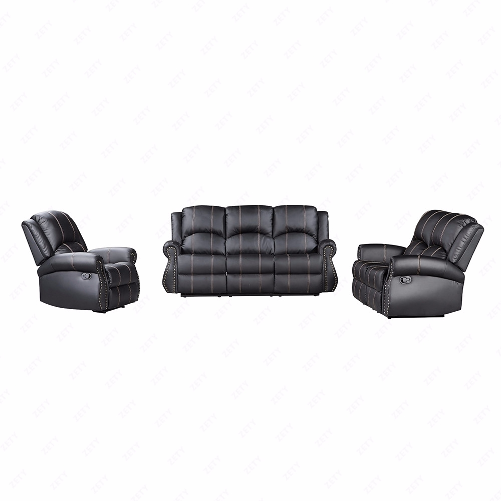 Gold Thread Sofa Set Loveseat Couch Recliner Leather Living Room ...