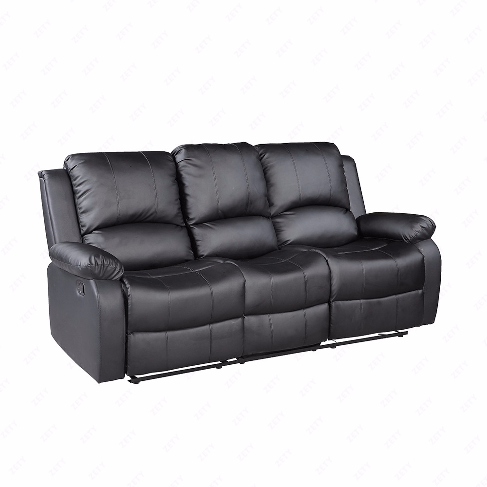 Living Room Furniture Sets Black: Sofa Set Loveseat Chaise Couch Recliner Leather Living