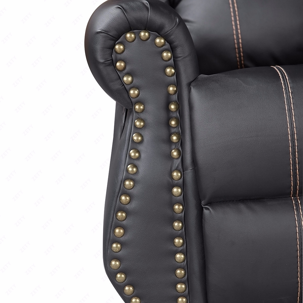 Black Leather Sofa Bed Ebay: Gold Thread Sofa Set Loveseat Couch Recliner Leather