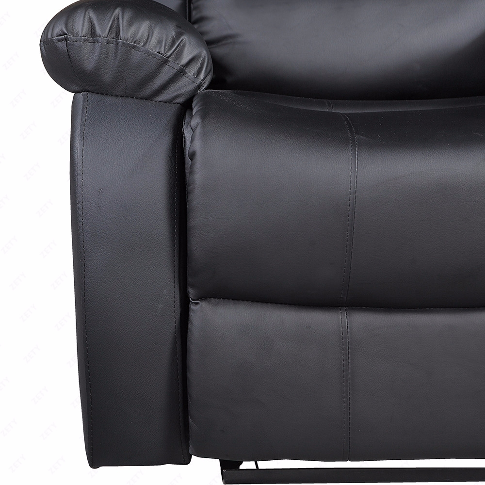 Black Leather Sofa Bed Ebay: Recliner Sofa Set Loveseat Chaise Couch Black Leather