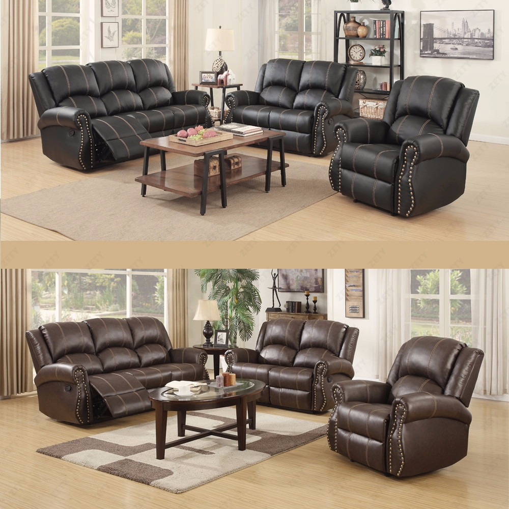 amazon com furniture living room gold thread sofa set loveseat recliner 3 2 1 leather 20503