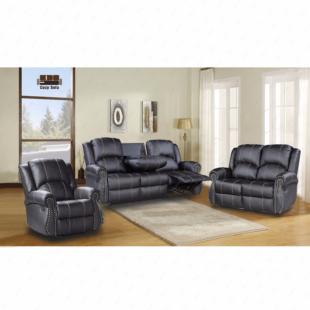 Kenwell Gold Thread Sofa Set Loveseat Couch Recliner