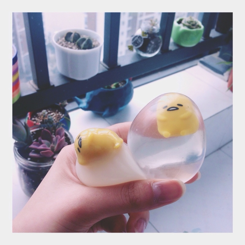 Squishy Water Egg : 2016 New Gudetama Water Egg Shaped Squishies White Clear Gunya Squeeze Mascot eBay