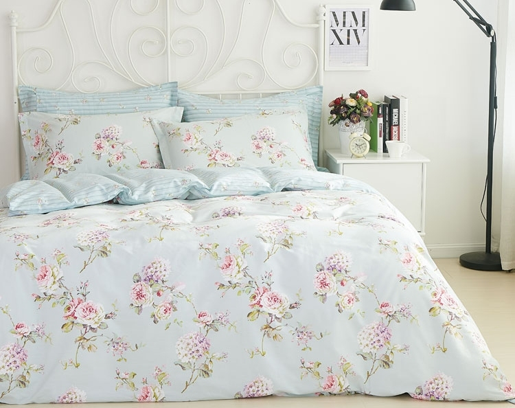 Country Bedding Sets Queen: Queen French Country Cottage Shabby Chic Blue Duvet Quilt