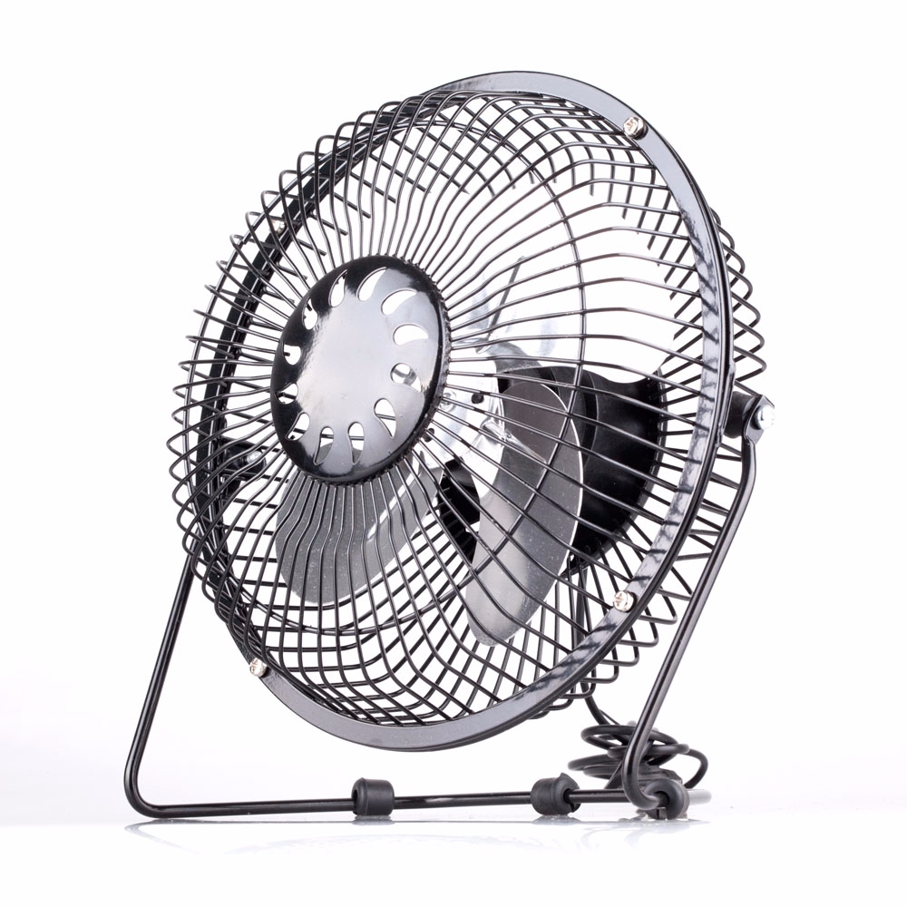6 Inch Desk Fan : Portable quot inch desk usb fan black metal cooling cooler
