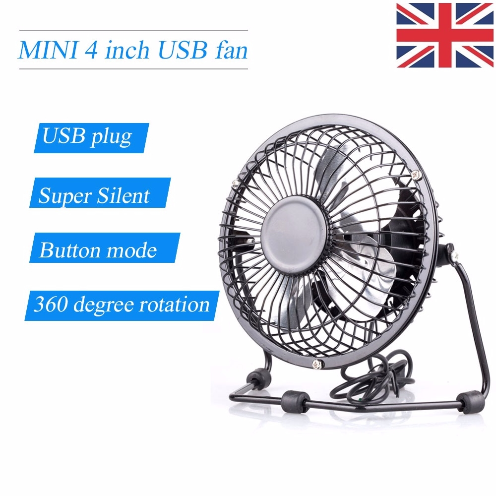2 x mini portable usb fan quiet desktop desk silent cooler for 16 inch window box fan